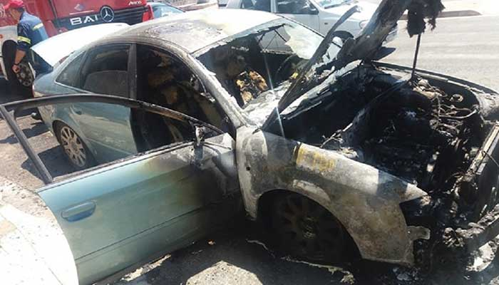 car fire gas