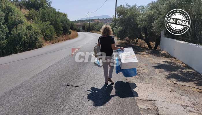 Αγιος Νικόλαος: Κωμικοτραγικές καταστάσεις στον δρόμο των Λακωνίων με τους κάδους απορριμάτων!!! 6