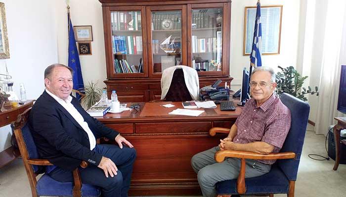 ΒΟΑΚ και οι υδάτινοι πόροι στο επίκεντρο συνάντησης του αντιπεριφερειάρχη Λασιθίου με τον πρόεδρο του ΟΑΚ 1
