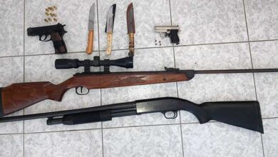 Photo of Αγιος Νικόλαος: Βρέθηκαν 2 πιστόλια με γεμιστήρες, κυνηγετικό όπλο, μαχαίρια και φυσίγγια!