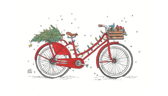 xmas bicycle