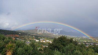 Photo of Ένα όμορφο ουράνιο τόξο πάνω από τον Αγιο Νικόλαο (pics)