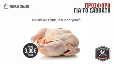 Photo of Κρεωπολείο Νερατζούλης: Νωπό Ελληνικό Κοτόπουλο 3 ευρώ το κιλό