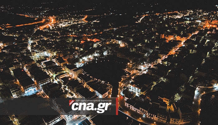 agios nikolaos crete night