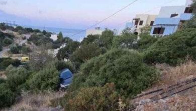 Photo of Αγιος Νικόλαος, Αμμουδάρα: Αυτοκίνητο έπεσε στο γκρεμό