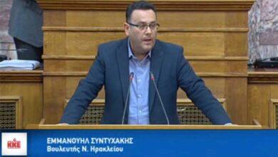 Photo of Ερώτηση Συντυχάκη, βουλευτή του ΚΚΕ για το νοσοκομείο Αγίου Νικολάου Κρήτης