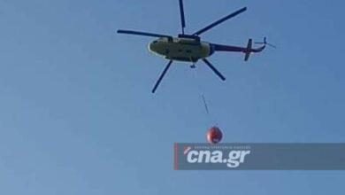 Photo of Αγιος Νικόλαος, Βαθύ: Και ελικόπτερο στην μάχη με την φωτιά