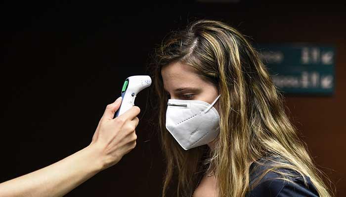 maska thermometro koronoios