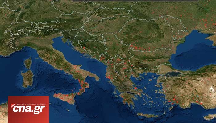 nasa southeurope fire